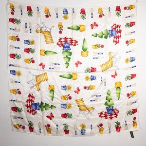 "ECHO Silk Scarf Gardening Plants 35"" Square"